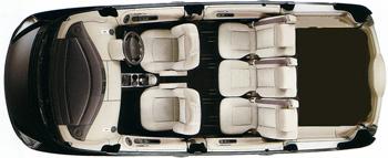 Car seating plan - 4 passengers