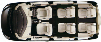 Car seating plan - 5 passengers