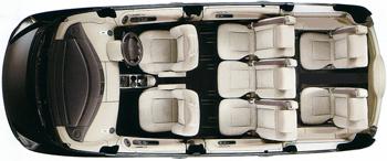 Car seating plan - 6 passengers