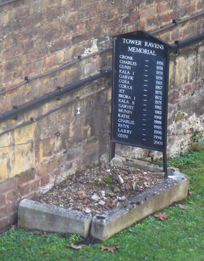 The ravens grave at the Tower of London